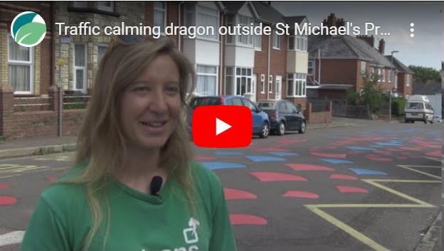 traffic-calming dragon video screen-shot