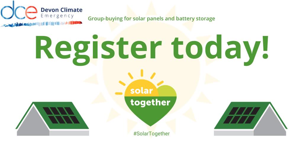 Register today for solar energy