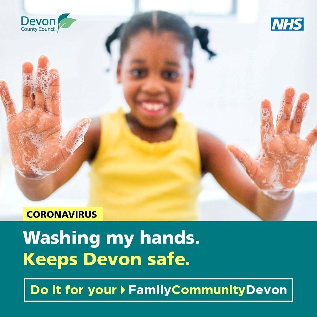 Washing my hands keeps Devon safe