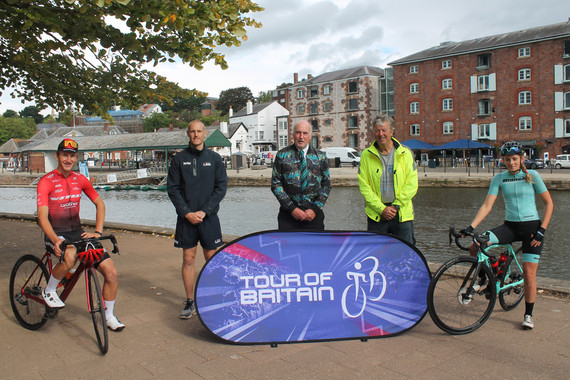 The Tour of Britain Devon Stage launch at Exeter Quay