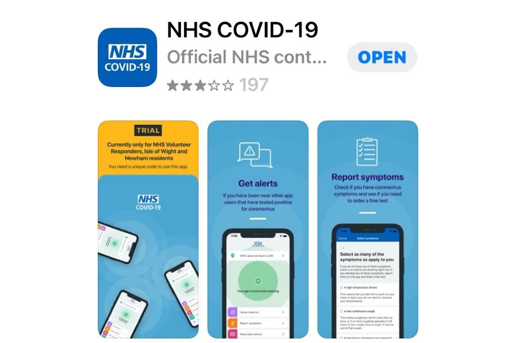 NHS COVID-19 App on Apple