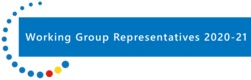 Working Group Reps banner with dots