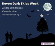 Devon dark skies week information banner