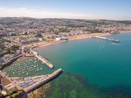 Paignton photo taken by a drone over the sea