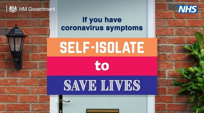 Self isolate to save lives