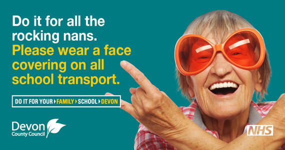 Do it for all the crazy Nans graphic for wearing a face covering on school transport