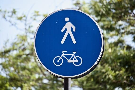 cycling walking roadsign