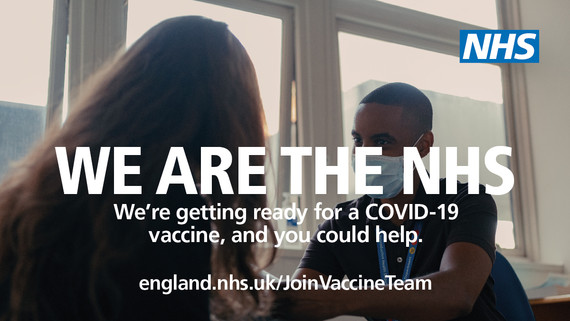 We're getting ready for a COVID-19 vaccine and you could help. Visit england.nhs.uk/JoinVaccineTeam