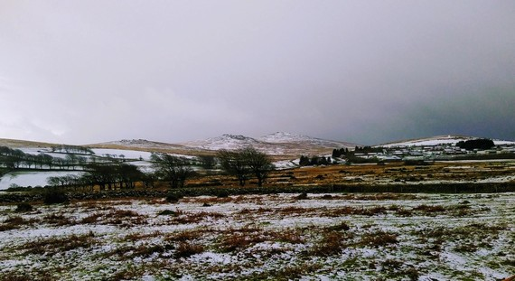 Wintery view of Dartmoor credit Mari Hamilton