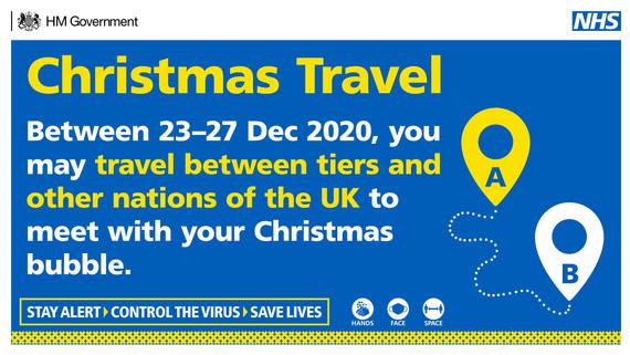 Christmas travel 23 - 27 December
