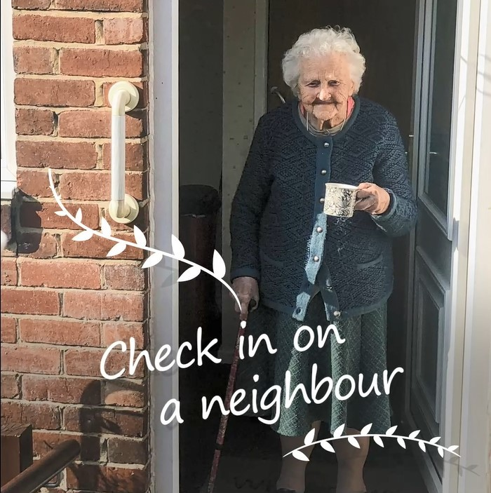 Check in on your neighbour
