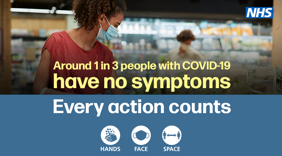 Around 1 in 3 people with COVID-19 have no symptoms