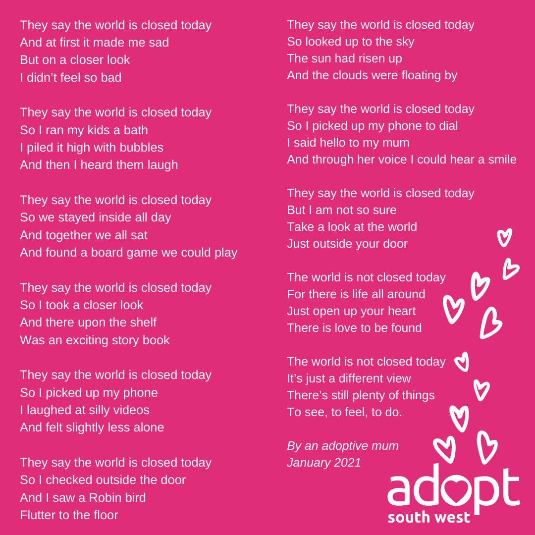 Adopt South West poem
