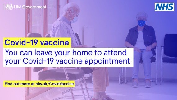 You can leave home to get your vaccine