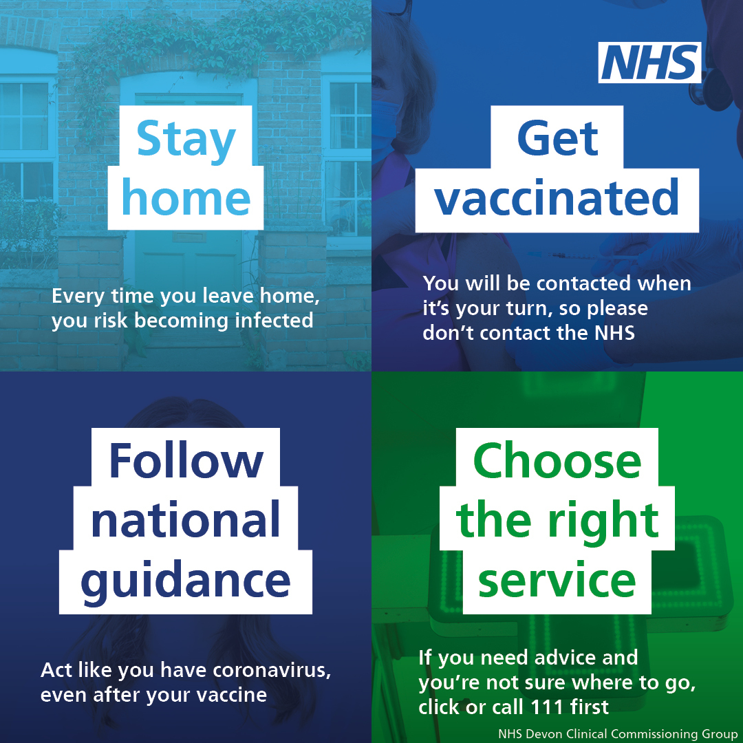 help the NHS by doing these 4 things