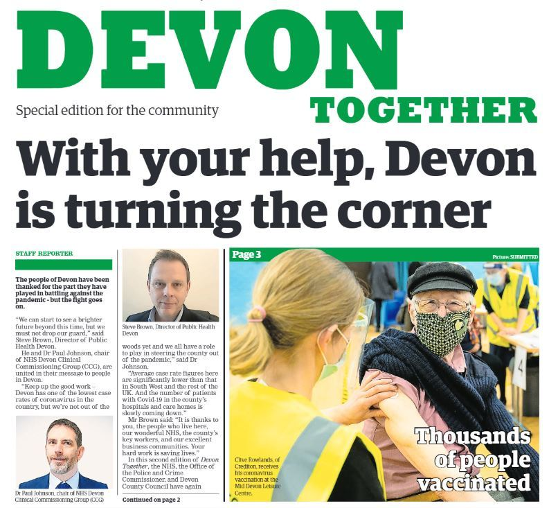 Devon Together newspaper front page