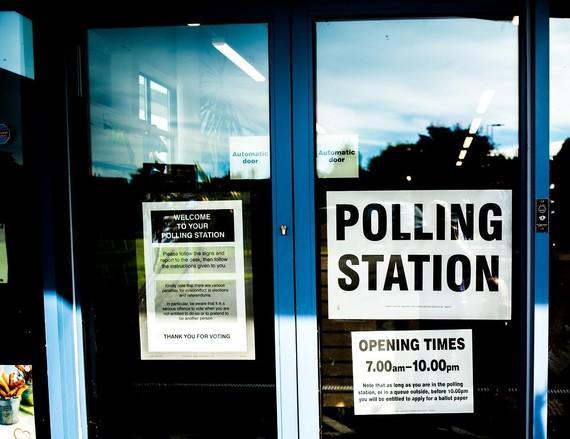 Polling station doors