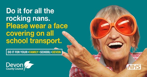 Please wear a face covering on all school transport
