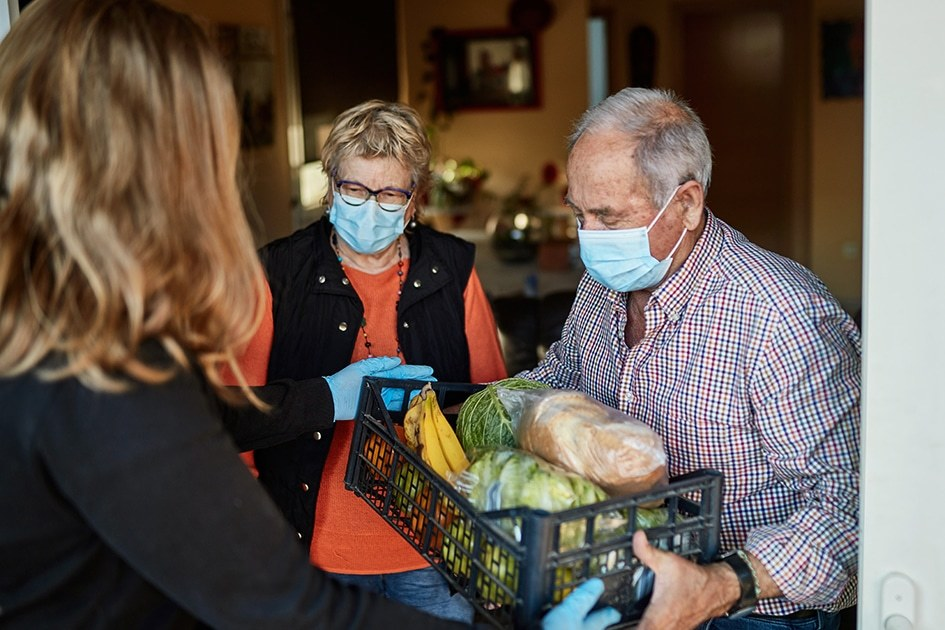 food being delivered to vulnerable people