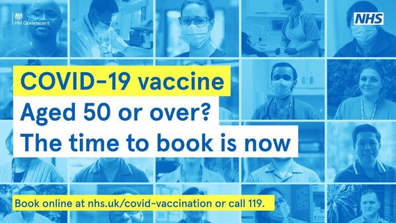 Aged 50 or over? Now it the time to book your COVID-19 vaccination