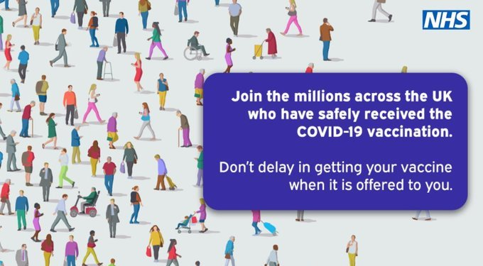 join the millions who have had their COVID-19 vaccination