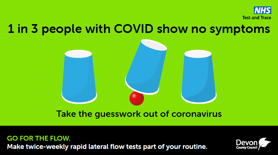 1 in 3 may have COVID - so get tested