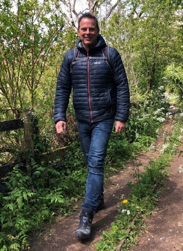 Steve Brown walking