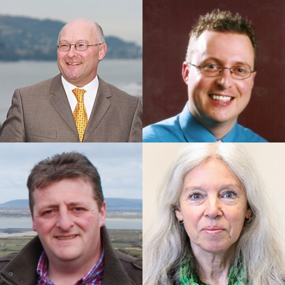 Left to right, top to bottom: Cllr Alan Connett, Cllr Rob Hannaford, Cllr Frank Biederman, Cllr Jacqi Hodgson