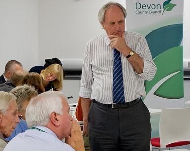 Cllr John Hart at consultation event