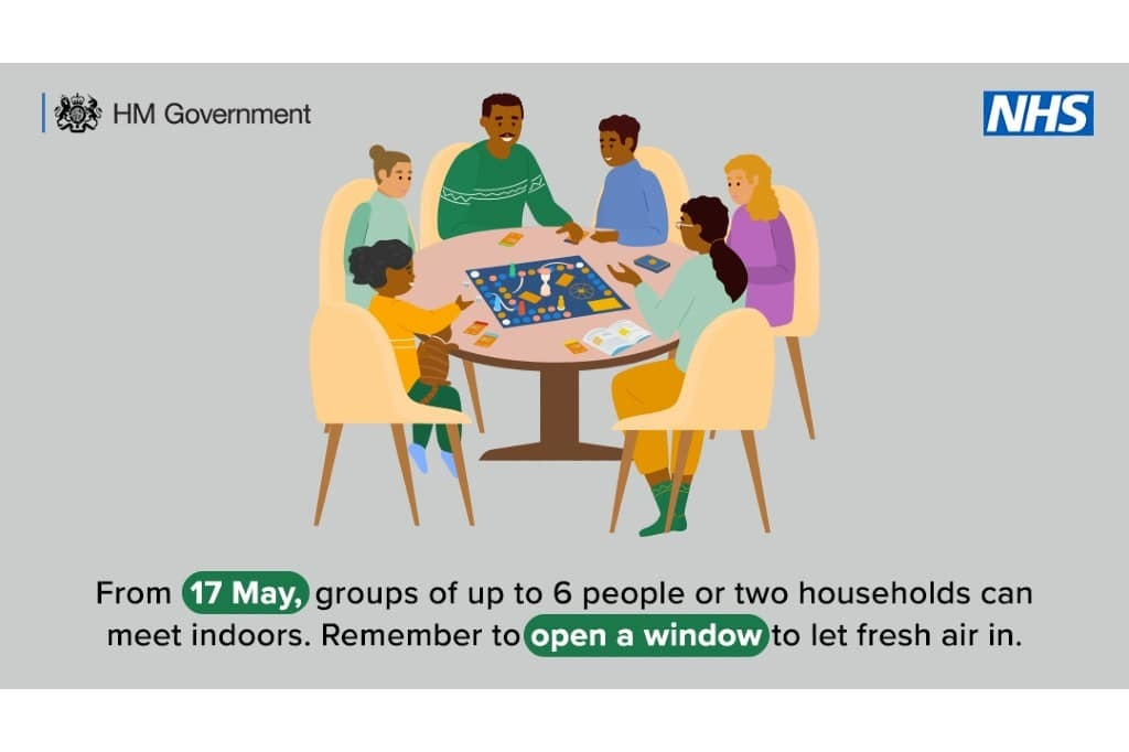 Six people around a table