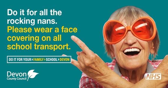 wear a face covering on school transport