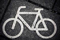 Cycle path sign.