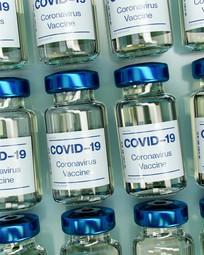 Bottles of the COVID-19 vaccine