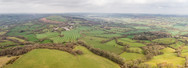 An image of hills and fields of the Blackdown Hills AONB