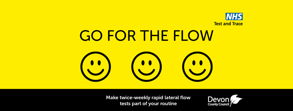 Go for the flow - make twice weekly COVID-19 rapid lateral flow tests part of your routine
