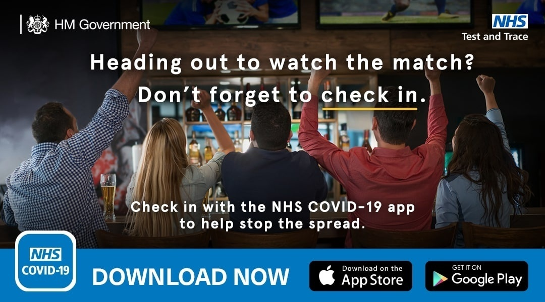 Check in with your NHS COVID-19 App