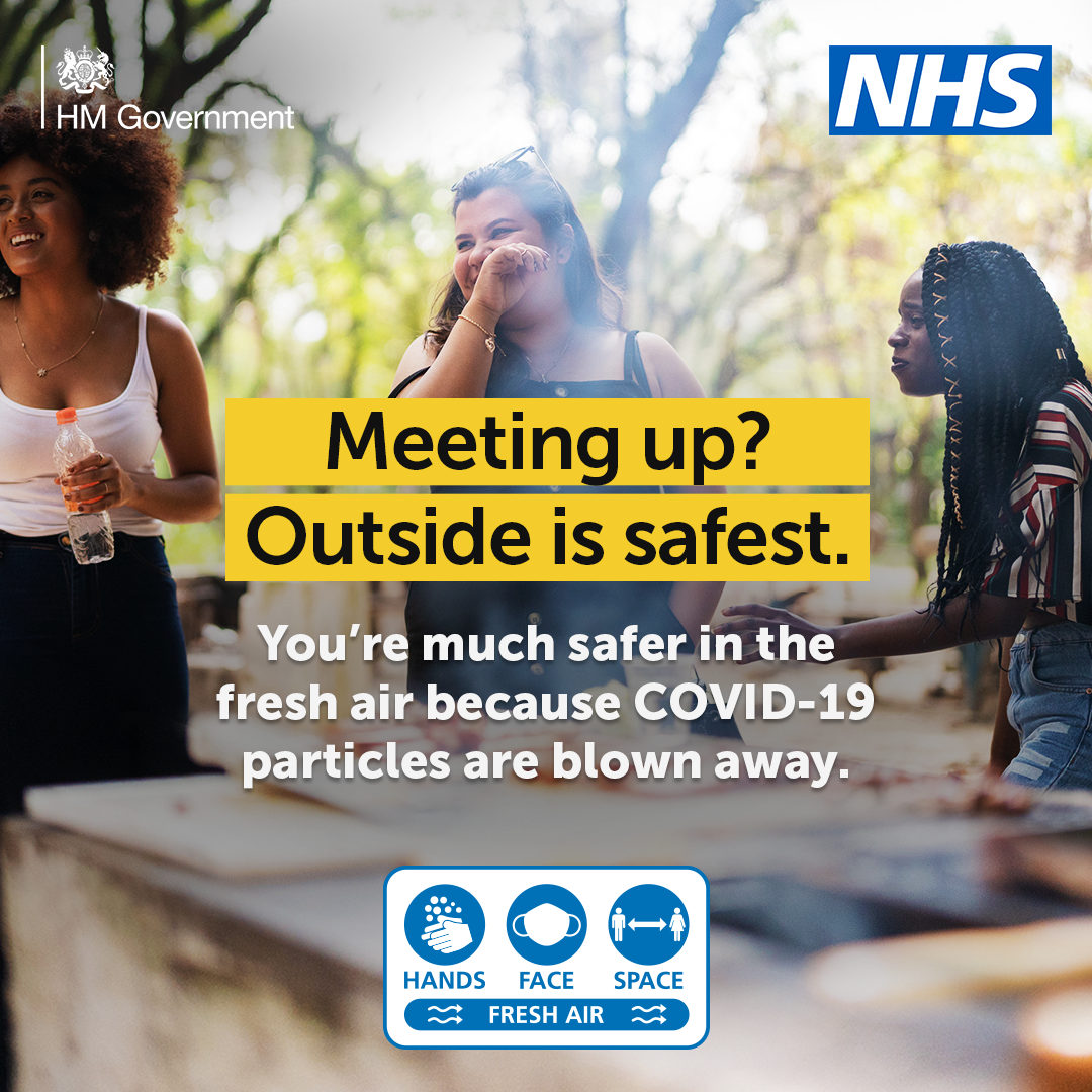 Meeting up? Outside is safest