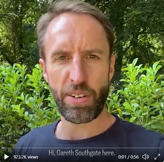 Gareth Southgate posted a video on Twitter encouraging young people to get their COVID-19 vaccine