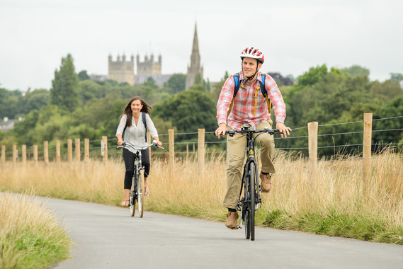 Cyclists in Exeter