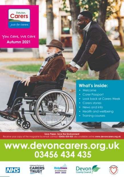 Devon Carers autumn magazine cover