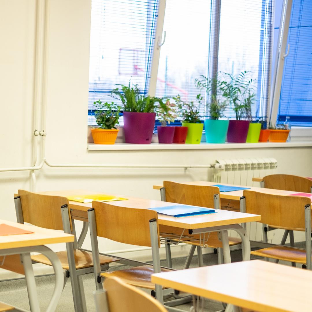 windows open in classroom