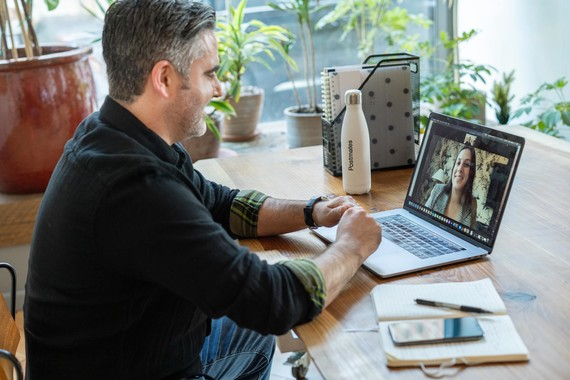 working from home video conference