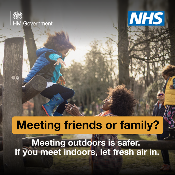 meeting family or friends, outside is safer