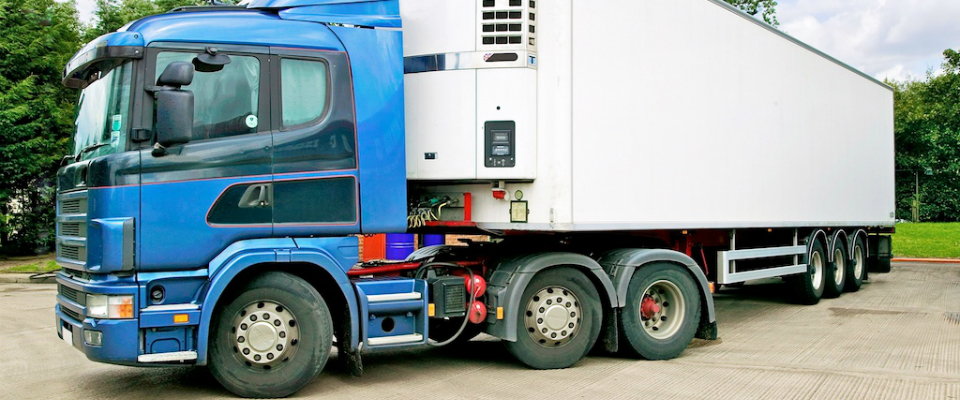 An refrigerated lorry