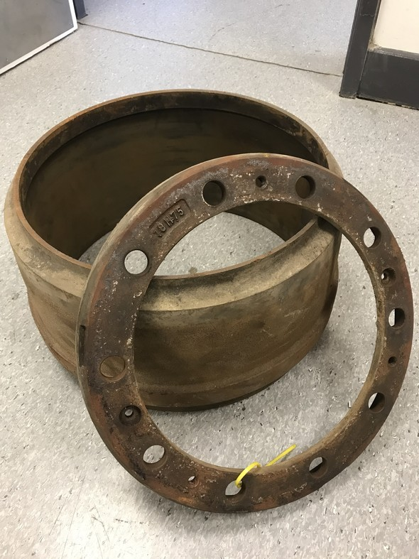 Defective brake drum