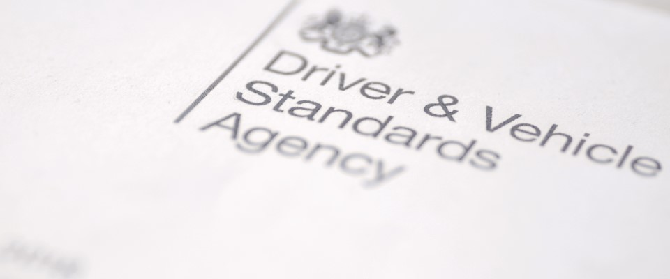 Printed DVSA logo on paper