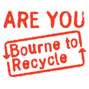 Bourne to Recycle logo