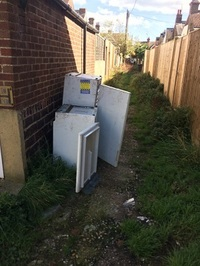 Some of the dumped fridges