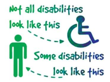Invisible disability poster