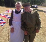 Couple in World War 1 costume